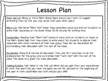 "End of Year ""Math Talk"" Activity"