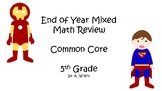 End of Year Math Task Cards