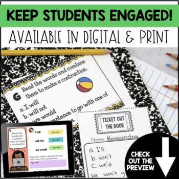 End of Year Math and ELA Task Cards Bundle (2nd Grade)