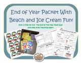 End of Year Math and Reading Games, Centers, Activities, A