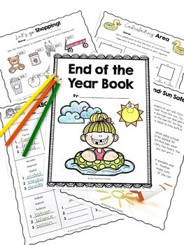 End of Year Math and Writing, No Prep