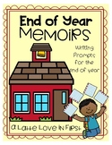 End of Year Memoirs Writing prompts and book