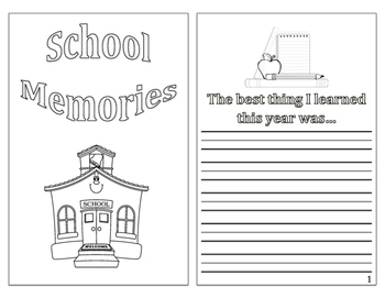 End of Year Memories Book
