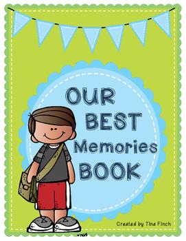 End of Year Memories Keepsake Book Writing