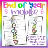End of Year Memories Mobile Activity