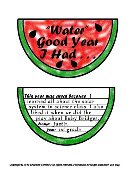 """End of Year Memories - """"Water"""" Good Year I Had"""