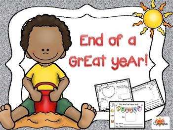 End of the year Activities - for kindergarten Autism/Special needs