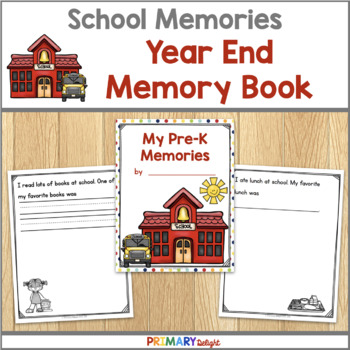 End Of The Year Memory Book Pre K K 1st Grade Amp 2nd