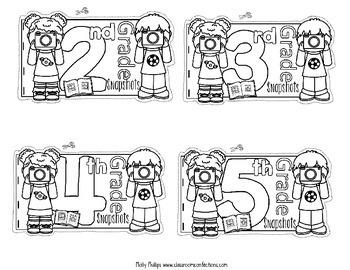 End of Year Memory Book: 2nd Grade, 3rd Grade, 4th Grade, 5th Grade