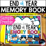 End of Year Memory Book *Free*