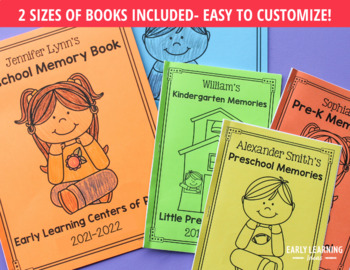 End of the Year Memory Book for Preschool, Pre-k, and Early Childhood Education.