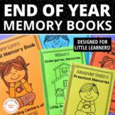 End of Year Activities for Preschool Pre-K & Kindergarten   Memory Book