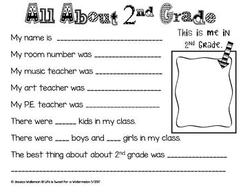 End of Year Memory Book - 2nd Grade