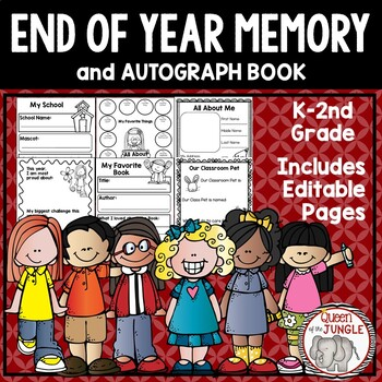End of Year Memory Book - K-2nd