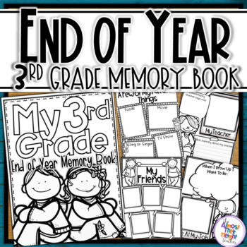 End of Year Memory Book - 3rd Grade writing and craft activity