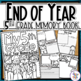 End of Year Memory Book - 5th Grade writing and craft activity