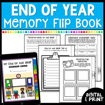 End of the Year Memory Book -Print & Google Classroom  | Distance Learning