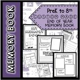 End of Year Memory Book BUNDLE ! PreK to 8th Grade !