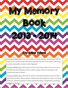 End of Year Memory Book - CCSS