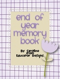 End of Year Memory Book: Camera Themed K-5