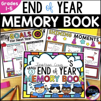 End of Year Memory Book with Free Writing and Writing Templates