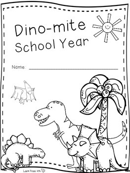 End of Year Memory Book Dinosaurs