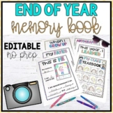Distance Learning - End of Year Memory Book {EDITABLE}