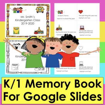 Digital Memory Book Google Slides Distance Learning Easy K/1 PDF with LINK