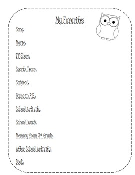 End of Year Memory Book- Editable!!