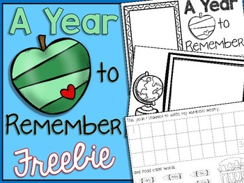 End of Year Memory Book FREEBIE