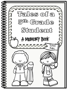 End of Year Memory Book - Fifth Grade
