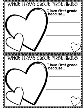 End of Year Memory Book:  First Grade