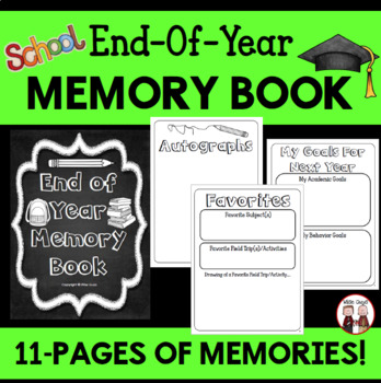 End of the Year Interactive Memory Book Activity