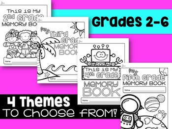 End of Year Memory Book, Grades 2-6