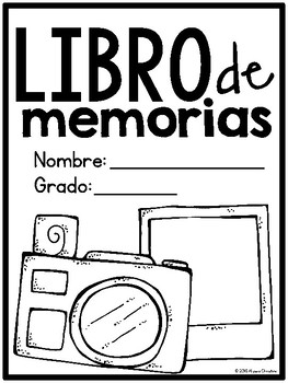 End of Year Memory Book in Spanish