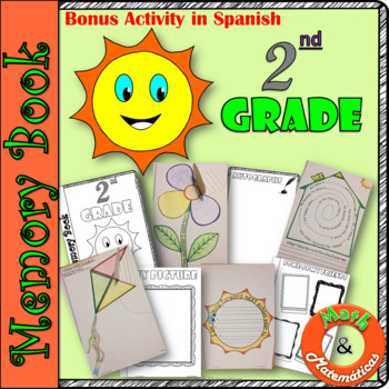 End of Year Memory Book-In English and Spanish-Libro de recuerdos- 2nd grade
