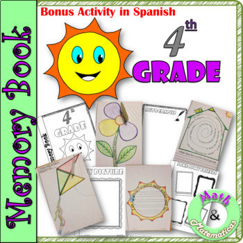 End of Year Memory Book-In English and Spanish-Libro de recuerdos- 4th grade