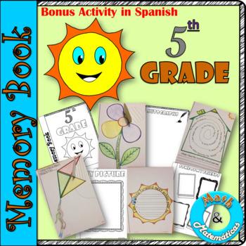 End of Year Memory Book-In English and Spanish-Libro de recuerdos- 5th grade