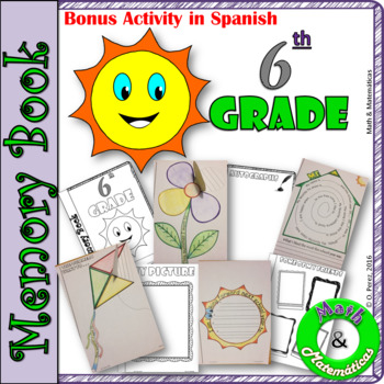 End of Year Memory Book-In English and Spanish-Libro de re
