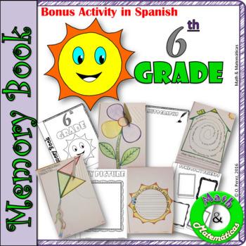 End of Year Memory Book-In English and Spanish-Libro de recuerdos- 6th grade