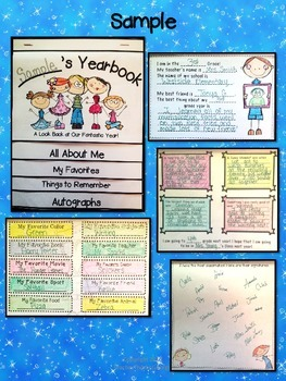 End of Year Memory Book- Interactive Flipbook Format