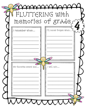End of Year Memory Book: It's Time to SPRING Into 5th Grade