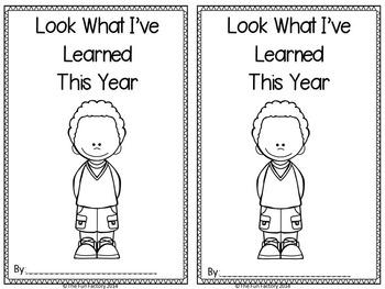 End of Year Memory Book ~ K-1