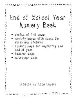 End of Year Memory Book K-5