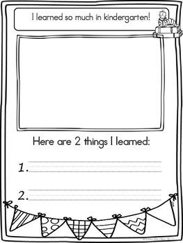 End of Year Memory Book - Kindergarten
