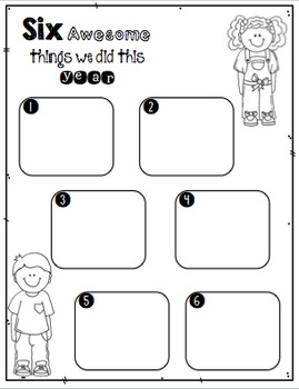 End of Year Memory Book (Kindergarten, First, Second)