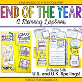 End of the Year Activities Memory Lapbook