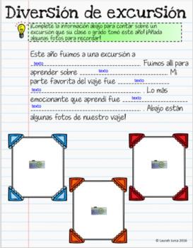End of Year Memory Book/Libro de recuerdos para el fin del año Google Bilingual