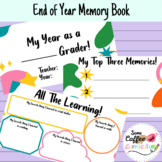 End of Year Memory Book | Print and Digital Versions Included