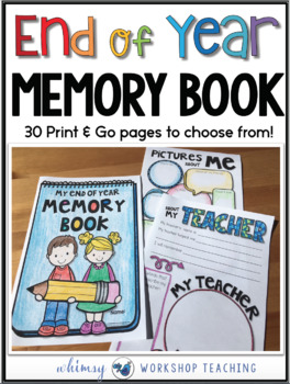 End of Year Memory Book Printables